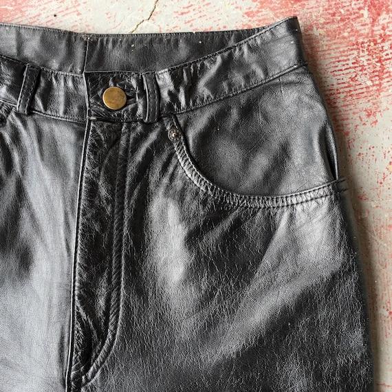 80's high waist leather pants • XS • 25