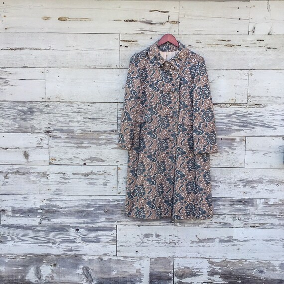 60's psychedelic swirl jacket • S / M / L • abstr… - image 1