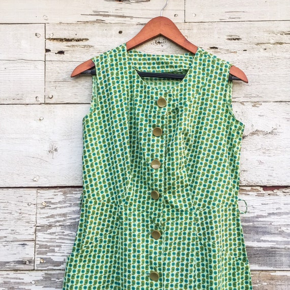 50's / 60's paisley sun dress with pockets • M