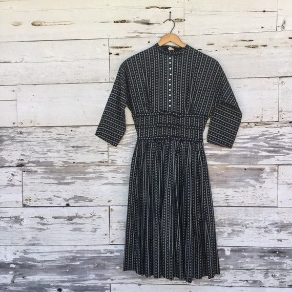 40's Lanz Victorian style day dress • XS • 24