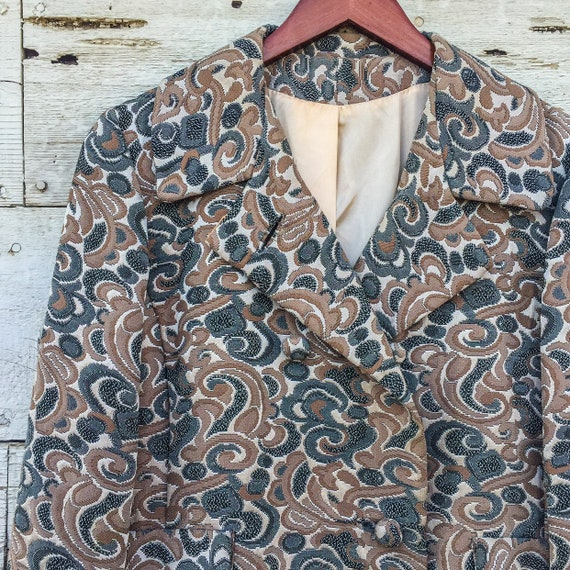 60's psychedelic swirl jacket • S / M / L • abstr… - image 6