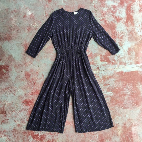 80's slouchy polka dot jumpsuit • OSFM • S / M / L