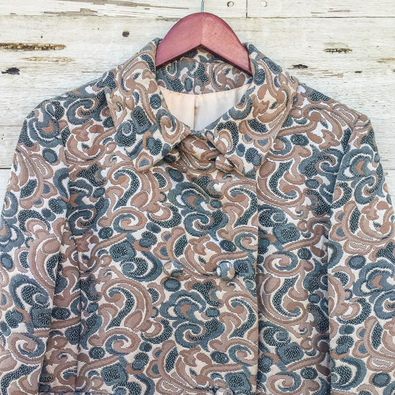 60's psychedelic swirl jacket • S / M / L • abstr… - image 5