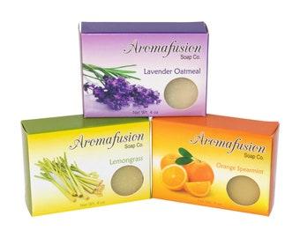 Soap Bundle, 3 Bars, Cold Process Soap Variety Pack, Soap Set of 3 Bars, Mix and Match, Bar Soap Gift, Gift Set