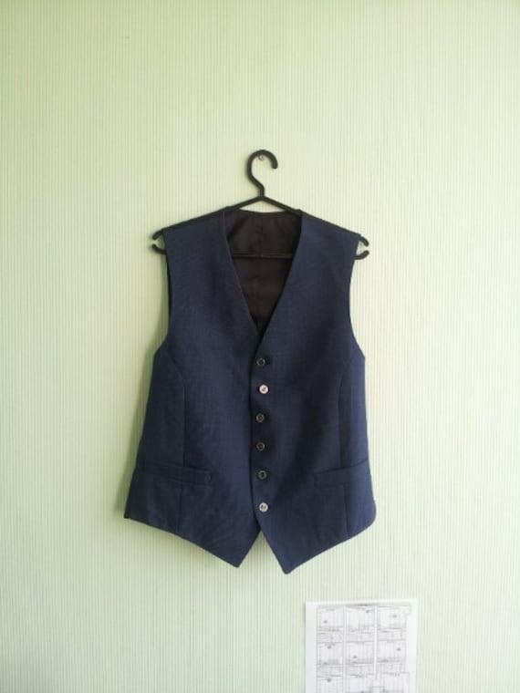 Vintage Mens Vest Wool Gift silk tie Formal Gentlemen's Fitted Waistcoat Edwardian Victorian Renaissance Steampunk FREE SHIPING