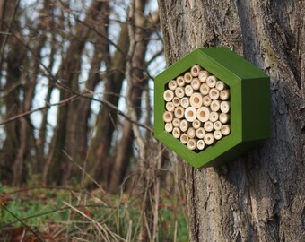 BEE HOTEL, Insect house, Mason bee home - Hotel Fern