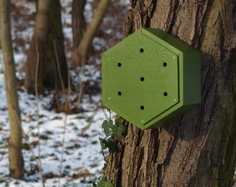 BUG HOUSE, ladybug hotel, bee home, Insect shelter - Fern