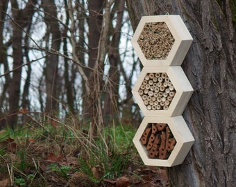 BEE HOTEL, Insect house, Mason bee home - Superiorhotel Woody