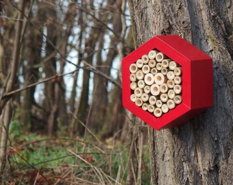 BEE HOTEL, Insect house, Mason bee home - Hotel Mars