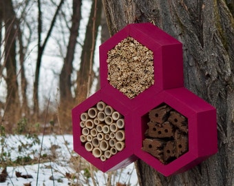 BEE HOTEL, Insect house, Mason bee home - Trianglehotel Burgundy