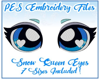 PES Snow Queen Embroidery Design Instant Download Elsa inspired female face