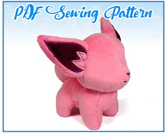 Chibi Fox PDF Sewing Pattern (intermediate)