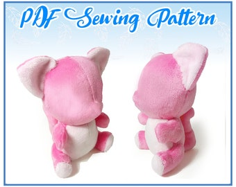 Sitting Kitty Plush PDF Sewing Pattern