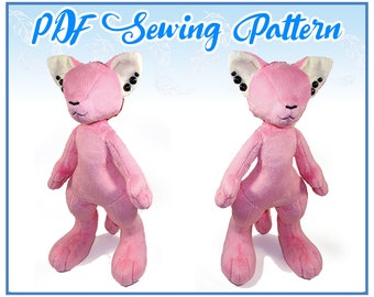 Anthro Plush PDF Sewing Pattern (intermediate-advanced)