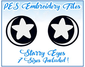PES Starry Eyes embroidery files Instant download- other formats on request!