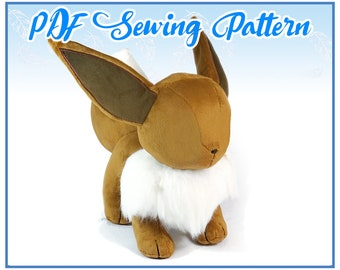 Lifesize Eevee Plush PDF Sewing Pattern (advanced)