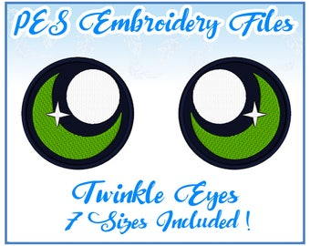 PES Twinkle Eyes embroidery files Instant Download- other formats on request!