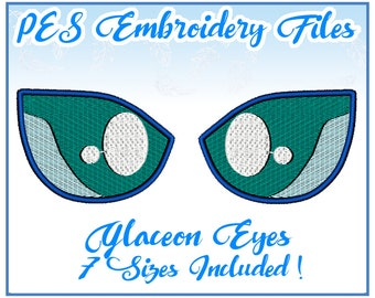 PES Glaceon Eyes Embroidery Files Instant Download- other formats available!