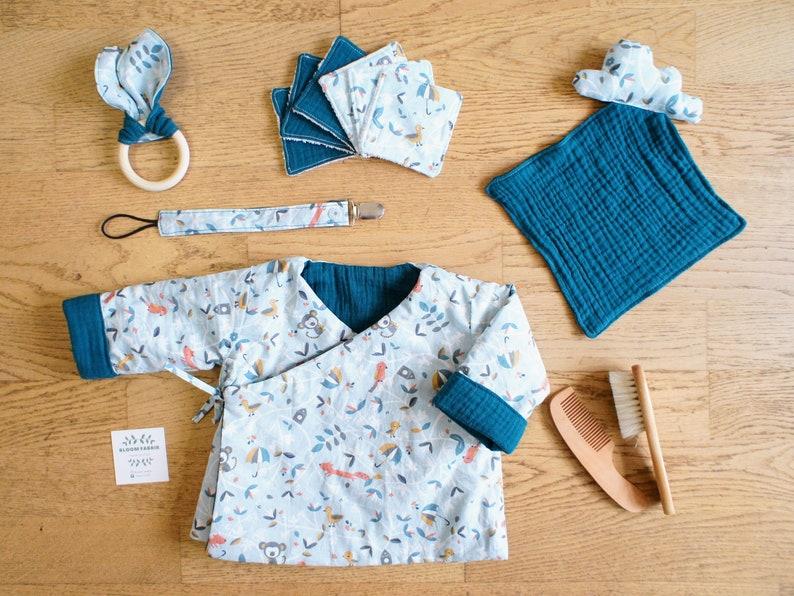 Baby reversible kimono heart masking jacket
