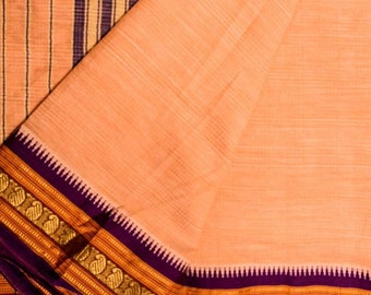 Vintage Saree 100% Pure Cotton Fabric Soft Pink Saree 5YD Sari PCS1830