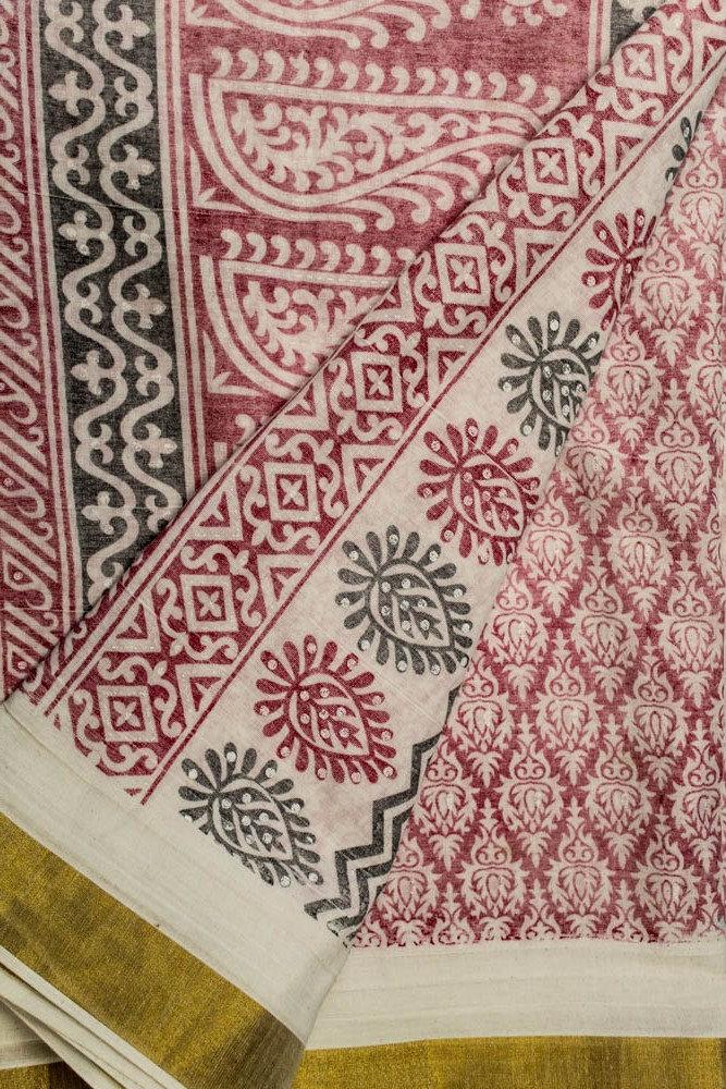 Vintage Saree 100% Pure Cotton Sari Fabric Saree 5YD Sari Cotton Antique Sarong Wrap Traditional PCS2654 e24ffe