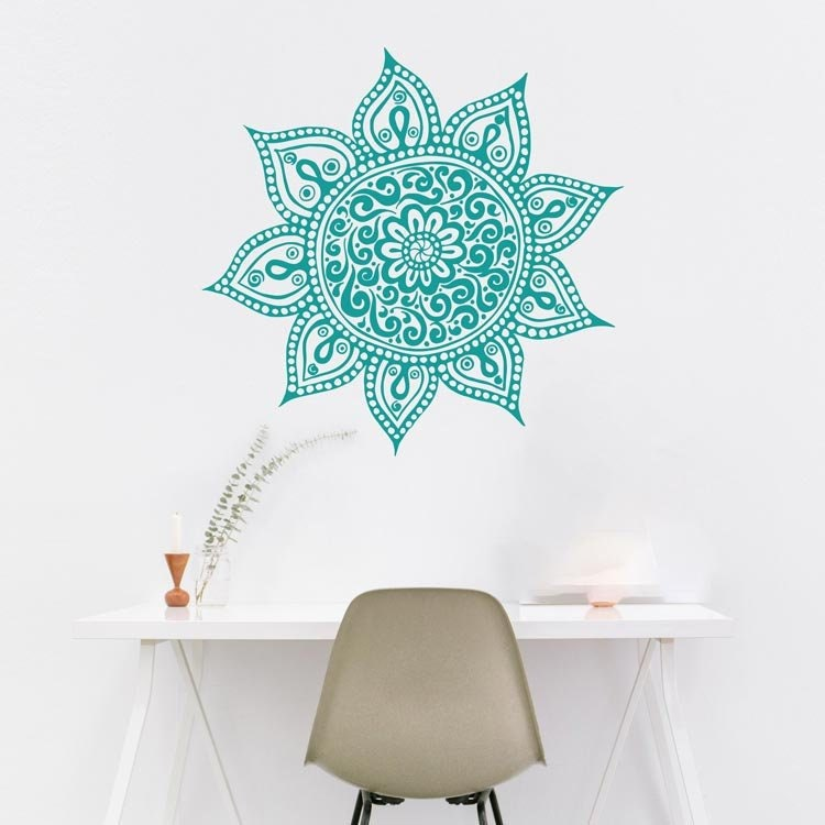 Bohe Mandala Flower Wall Paper Decor Yoga Studio Vinyl: Mandala Wall Decal Yoga Studio Decor Mandala Wall Art