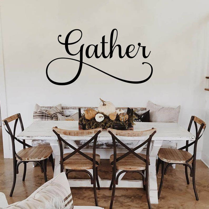 Amazon Com Dining Room Wall Decal There Is Always Something To Be Thankful Farmhouse Vinyl Sticker Decoration For Home Or Kitchen Decor Handmade