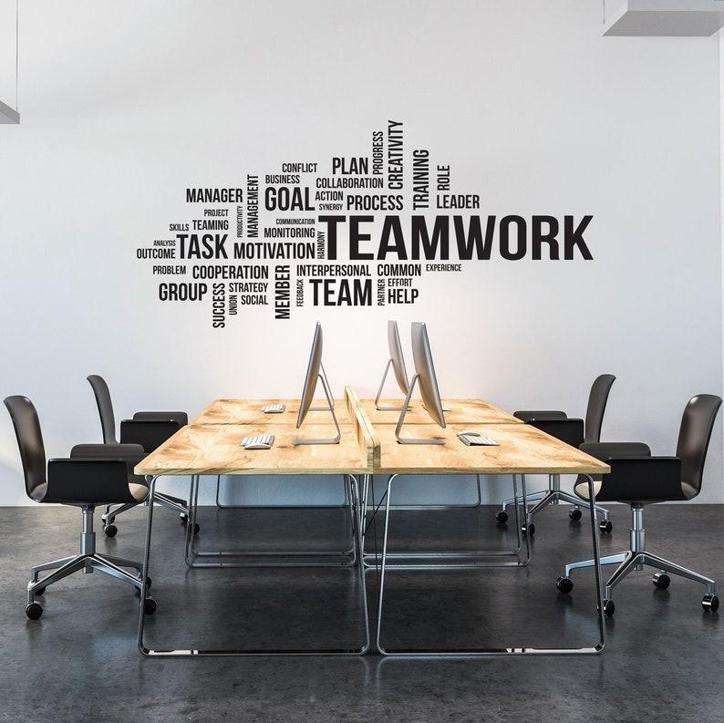Office Wall Art Office Decor Office Wall Decal Office Wall Decor Teamwork Wall Decal Teamwork Decal Office Decals Motivational Art