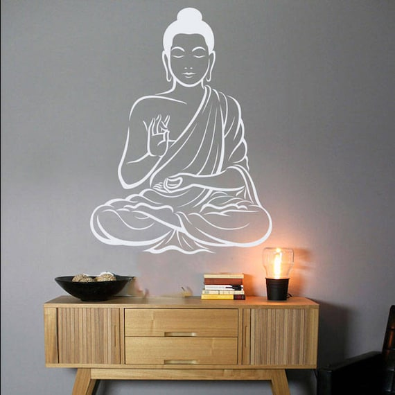 Buddha Wall Decor Om Wall Art Decal Yoga Wall Art Decal Indian | Etsy