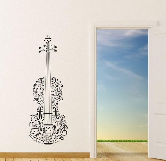 Music Notes Wall Decal Violin Wall Art Violin Gifts Violin | Etsy