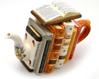 Teiera di libri di Jane Austen