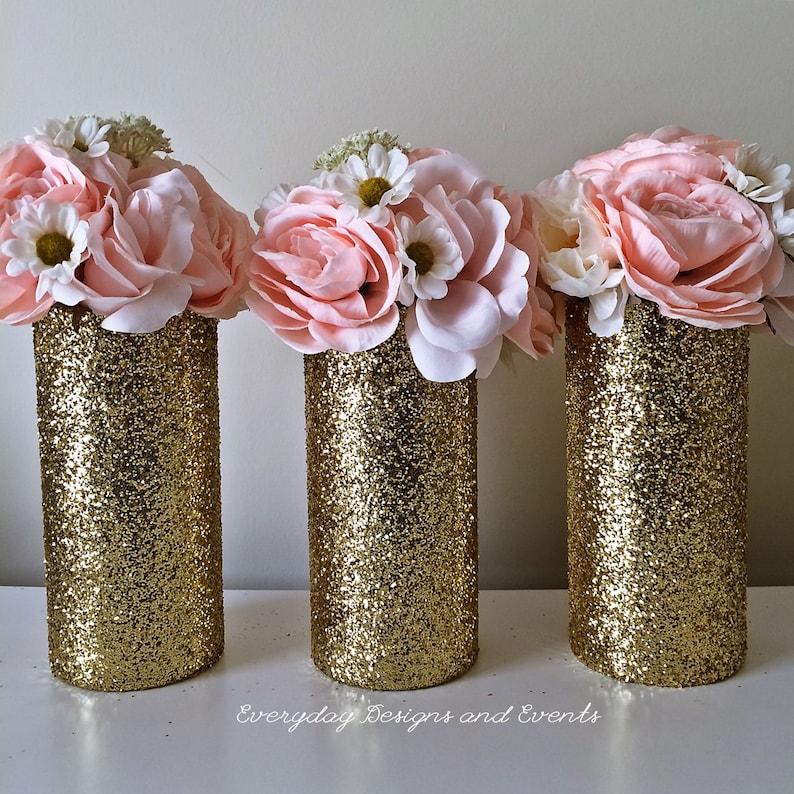 Gold Wedding Centerpiece Vases Wedding Decorations Gold Decor Etsy