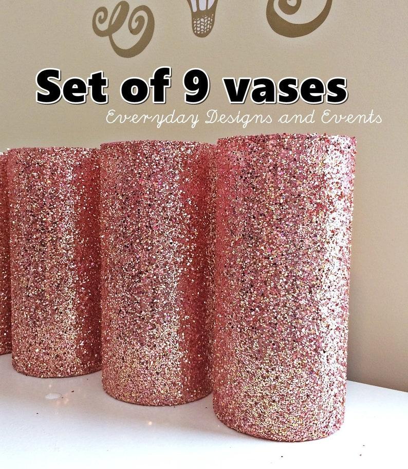 9 Rose Gold Wedding Decor Rose Gold Vase Wedding Centerpiece Etsy