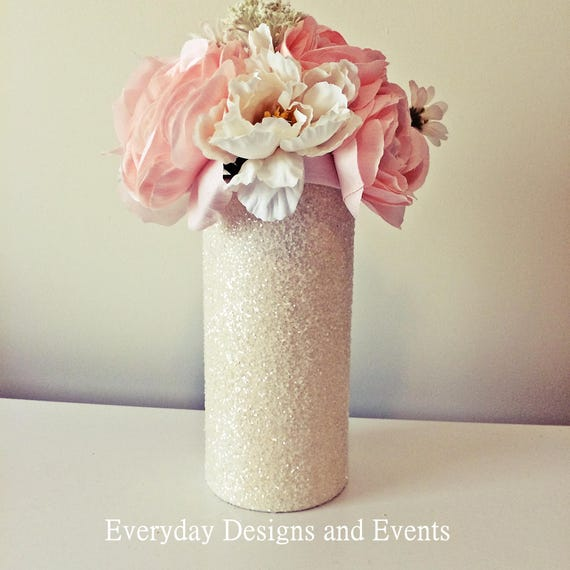 Ivory Vase Wedding Centerpiece Ivory Wedding Wedding Etsy