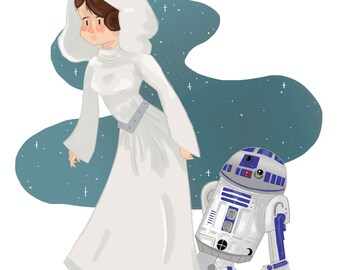 Princess Leia and R2