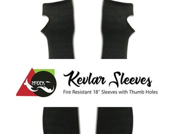 """18"""" Kevlar Sleeves  -  Flame & Cut Resistant - Thumb Holes - One size Fits Most"""