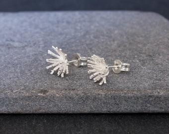 Nancy boho ethnic sterling silver and smoky quartz earrings