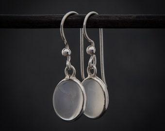 Moonstone Earrings, White Moonstone, Silver Drops, Birthstone Jewellery, Sterling Silver