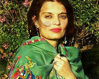 Hand Embroidered Pashmina Wrap