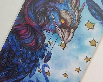 Fantasy gryphon, griffen ACEO, gryphon ACEO, artist trading card, ACEO print, fantasy art, night and stars, gryphon art, griffen art