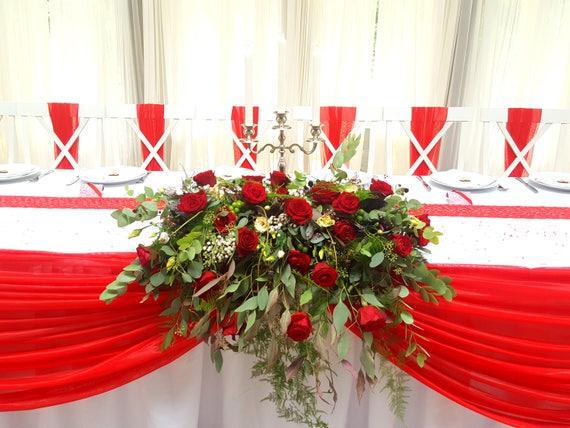 Dekoracyjne Krzesło ślubne Skrzydło Czerwony Grzywny Tiul Krzesło Wstążka Zestaw 50 Krzesło Dekoracja Wedding Bow Wystrój Korytarz Wesele