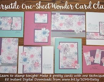 Diagonal One-Sheet Wonder Cardmaking Class: Instant Digital Download PLUS BONUS PDF