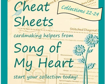 Cheat Sheets (22-24) Continuing Collection: Instant Digital Download cardmaking helpers