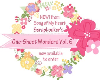 Vol. 6 Scrapbooker's One-Sheet Wonders: Instant Digital Download Cheat Sheets for scrapbooking, page guides, layouts