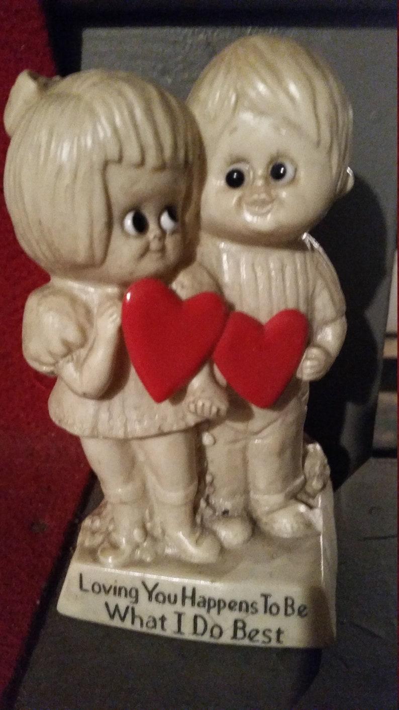 2341b0eab07f W   R Berries Couple Figurine 1971 Loving You Happens To Be