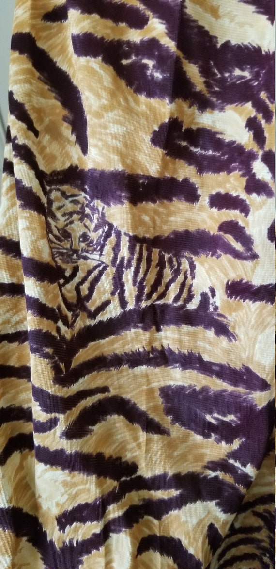 Vintage 1970s Tiger Women Pants Size 14, jungle p… - image 2