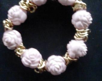 Rose Flower Buds Bracelet Stretch Bracelet