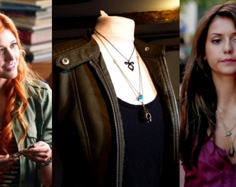 Clary Fray/Elena Gilbert Cosplay Blue Bird and Birdcage Necklace Shadowhunters/Vampire Diaries Costume Jewellary