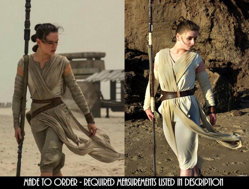 80e8e0327302e Rey Cosplay Star Wars: The Force AwakensThe Last Jedi Rey's Leather Belts  Jakku Costume (Belts only, Pouch Not Included)