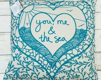 You, Me & the Sea cushion